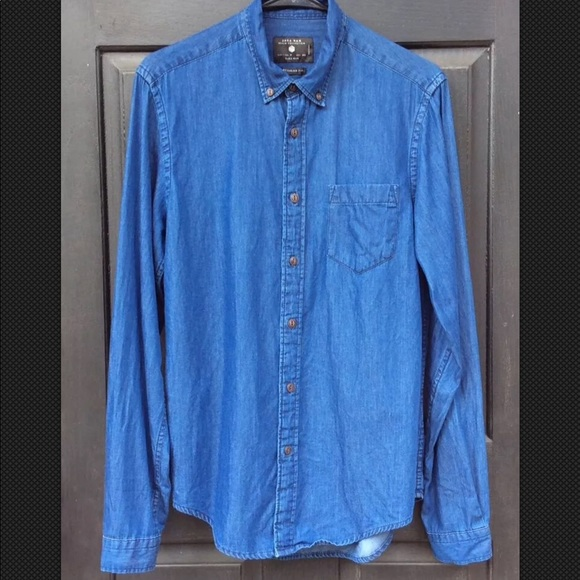 b632f491780 ZARA MAN DENIM COLLECTION Shirt Dark Blue Medium